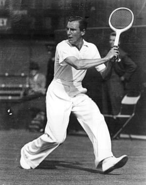 """Despite winning three consecutive Wimbledon titles, British tennis player Fred Perry is now perhaps better known as a sportswear brand. In an obituary in the New York Times, he was described as """"the urbane player, who favoured natty cuffed trousers and striped tennis vests"""". He founded his own clothing company in 1949. The polo shirts, which are the label's bread and butter, became associated with 60s mod culture in the UK, before, more recently, being co-opted by the """"alt-right"""" in the US."""