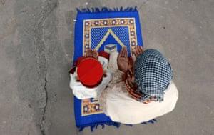 Prayers at the Kashmiri Mosque in Kathmandu, Nepal