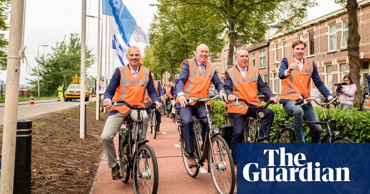 A road full of bottlenecks: Dutch cycle path is made of plastic waste