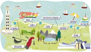 Map Of Northern Spain.Northern Spain Road Trip Pull Over For Pintxos Travel The Guardian