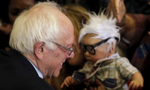 Bernie Sanders with a baby