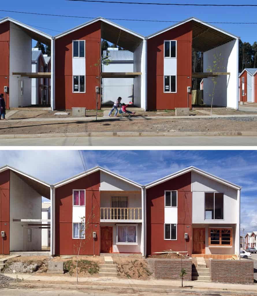 Villa Verde housing, 2013 in Constitución, Chile.