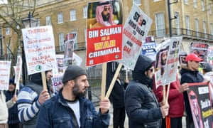 Protest against Saudi Arabian Crown Prince Mohammed bin Salman's visit to London.