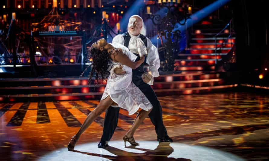 Oti Mabuse and Bill Bailey in action on Strictly Come Dancing.