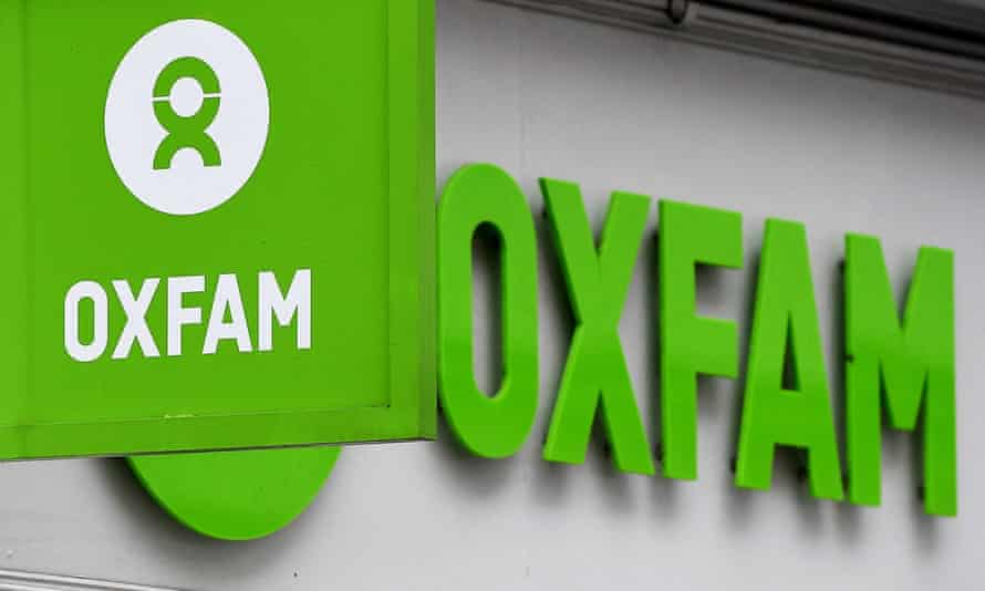 Oxfam signage on a shop