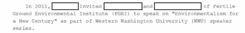 FBI communication on Deep Green Resistance