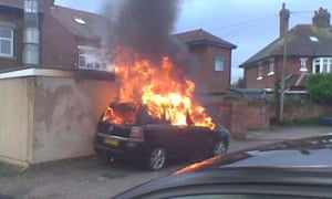 An image from the Vauxhall Zafira car fires Facebook page.