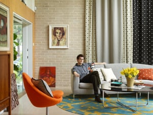 Sam Reich in the sitting room.