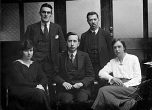 The Guardian Weekly team in 1921 from left, Miss J Leech; Mr A. P. Thomson; Mr C. O'Leary, Mr J Dicks and Miss M. Anderson