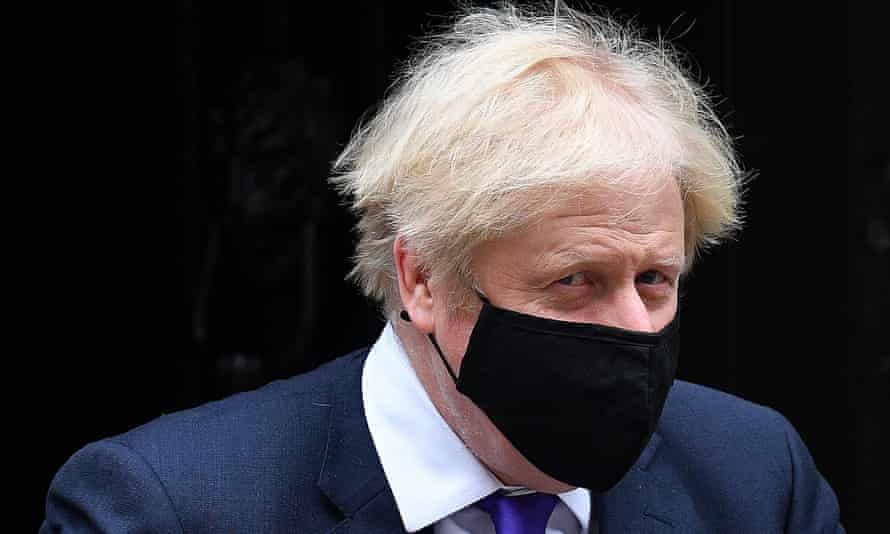Boris Johnson leaving 10 Downing Street on 2 December.