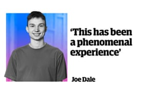 """Joe Dale: """"This has been a phenomenal experience."""""""