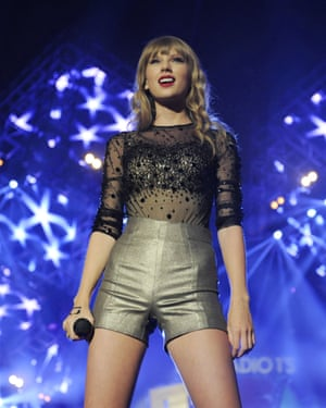 The biggest country act of all time ... Taylor Swift at BBC Radio 1's 2012 Teen awards.