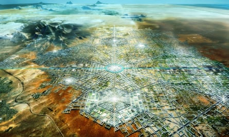 Border city aerial rendering
