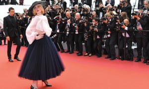 Elle Fanning on the Cannes red carpet for Once Upon a Time … in Hollywood.