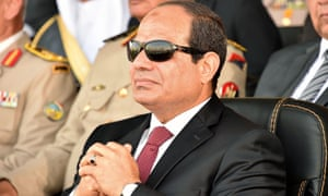 Egyptian President Abdel Fatah al-Sisi at a military academy graduation ceremony in Cairo