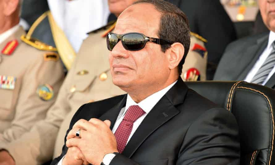 Egyptian President Abdel Fatah al-Sisi attending a military academy graduation ceremony in Cairo, July 2015
