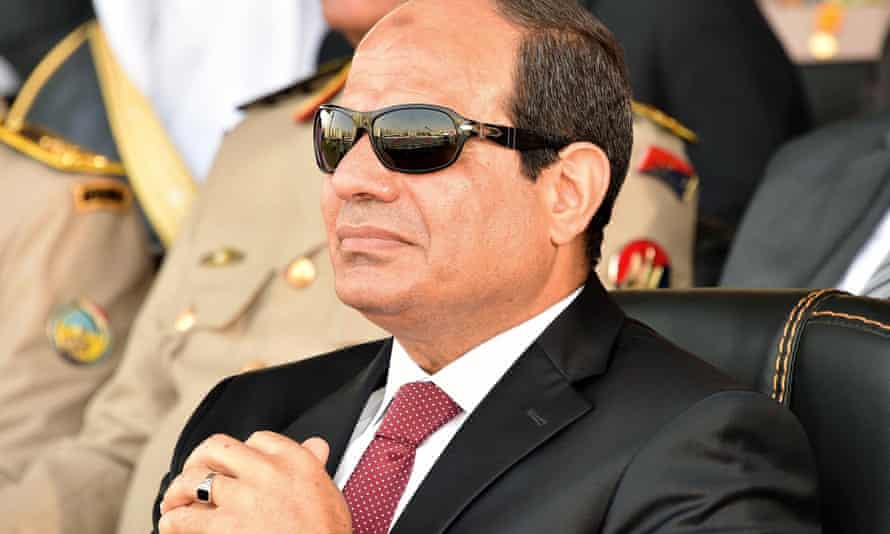 President Abdel Fatah al-Sisi attends a military graduation ceremony in July 2015.