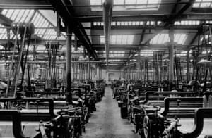 Furious noise … a Lancashire cotton mill's weaving shed. Photo: Edward Gooch/Getty Images