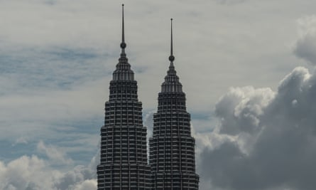 The Petronas twin towers in Kuala Lumpur are clear from the haze that has shrouded Malaysia in recent weeks as Indonesian fires raged.