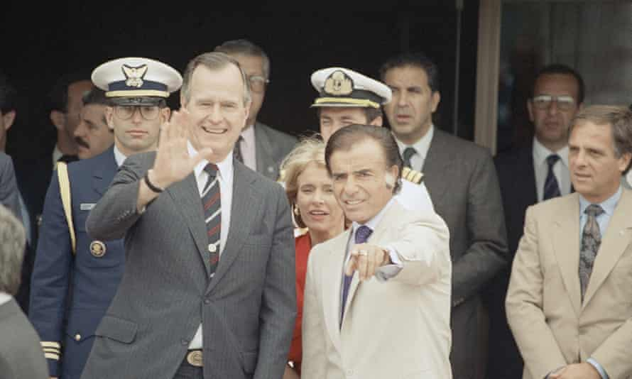 George HW Bush and Carlos Menem