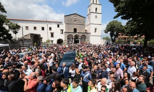 The funeral of murdered Carabiniere police officer Mario Cerciello Rega.