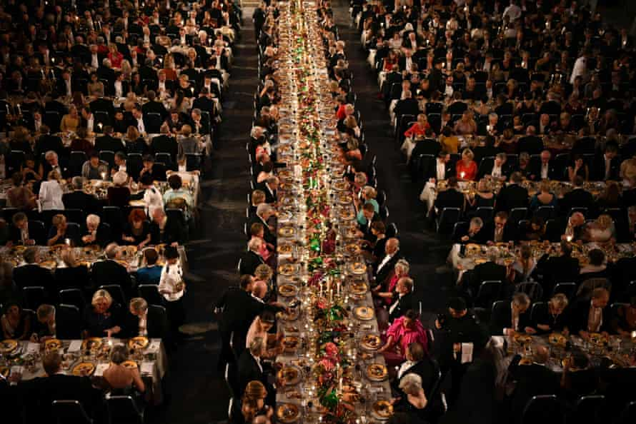 Last year's Nobel prize banquet in the Stockholm's City Hall, Sweden.