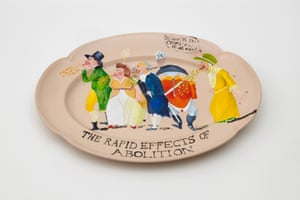 Swallow Hard: The Lancaster Dinner Service (detail), 2007 by Lubaina Himid.
