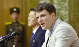 Otto Frederick Warmbier at a news conference in Pyongyang, 2016.