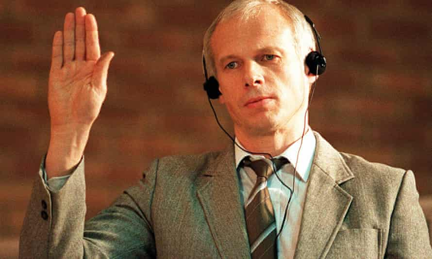 Waluś in 1997 at a hearing of South Africa's truth and reconciliation commission.
