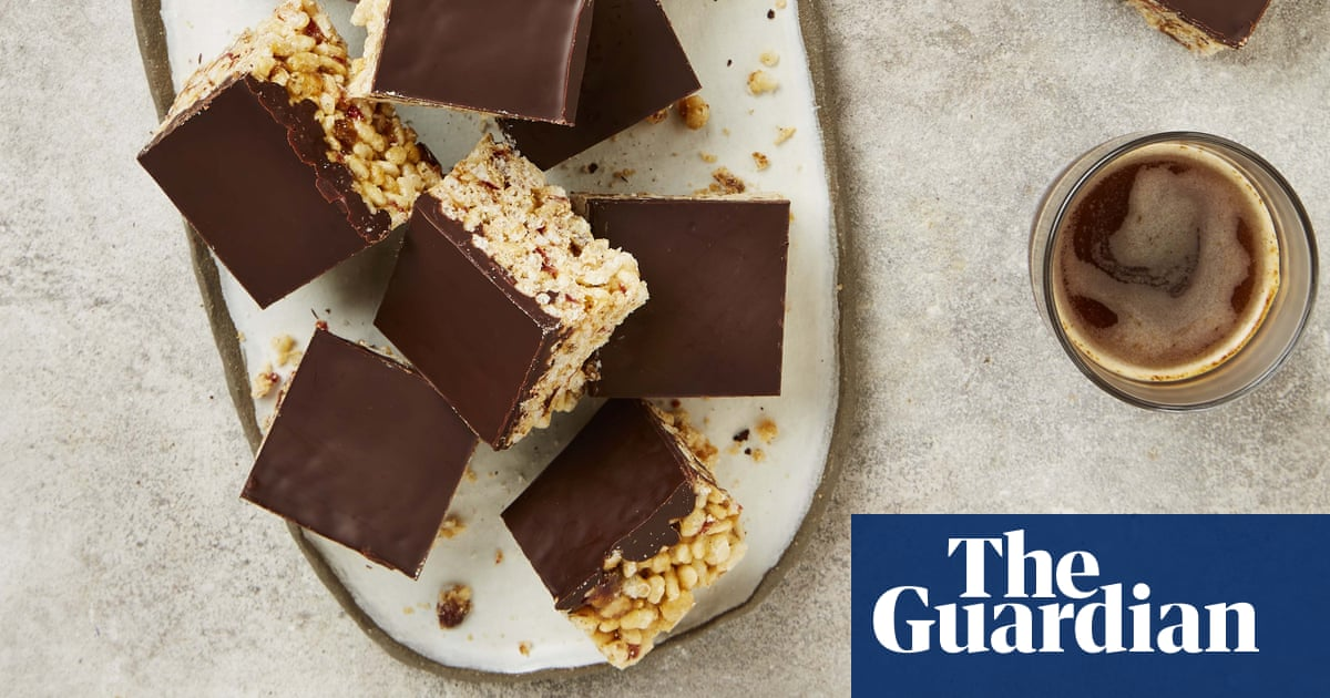 Meera Sodha's vegan recipe for crispy chocolate and date slices
