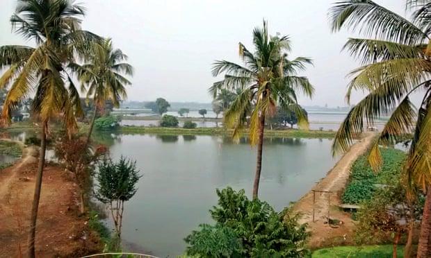 East Kolkata wetlands, India.
