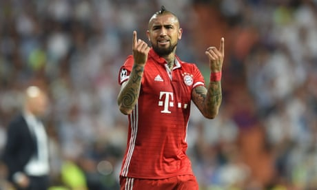 Arturo Vidal rages at referee after Bayern Munich go out to Real Madrid