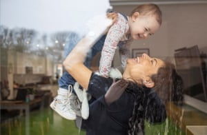 Kayleigh Lambert with her daughter Maya Jeffrey