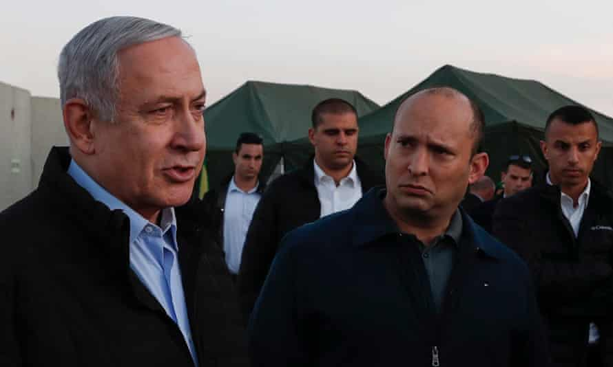 Netanyahu and Bennett on a visit to an Israeli army base in the Golan Heights in November 2019.