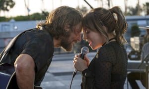 Best actor nominee Bradley Cooper, with best actress nominee Lady Gaga in best film nominee A Star is Born.