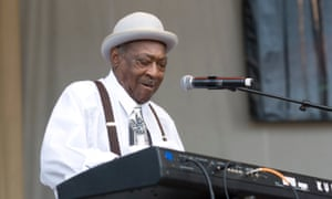 'He was very strict. But I ain't never had no problems with Howlin' Wolf.' Henry Gray performing at the Chicago Blues festival in 2010.