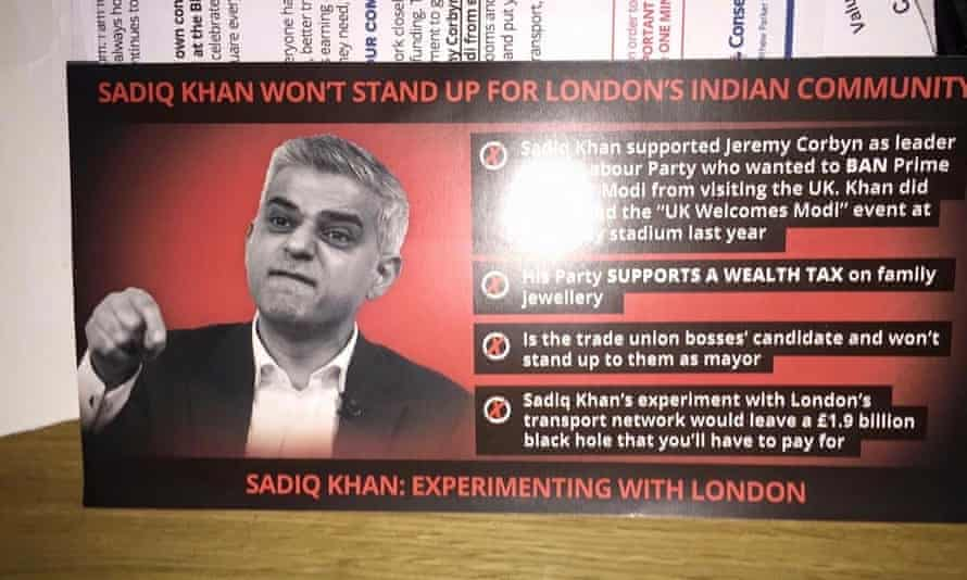 Zac Goldsmith campaign leaflet