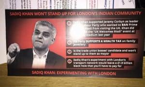Zac Goldsmith campaign leaflet.