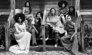 Lisa-Kainde Diaz, Halle Bailey, Naomi Diaz, Beyoncé, Amandla Stenberg, Zendaya and Chloe Bailey, from the Lemonade video.