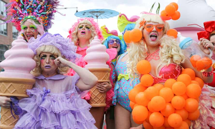 Participants take part in New York's Mermaid Parade.
