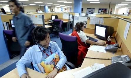 A call centre in Manila