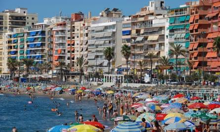Fuengirola on the Costa del Sol in Spain