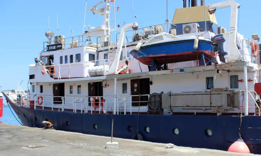 The C-Star vessel hired by far-right activists from a group that calls itself Generation Identity.