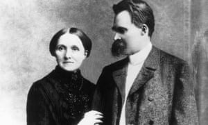 Friedrich Nietzsche with his mother.