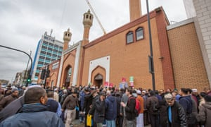 East London mosque demo