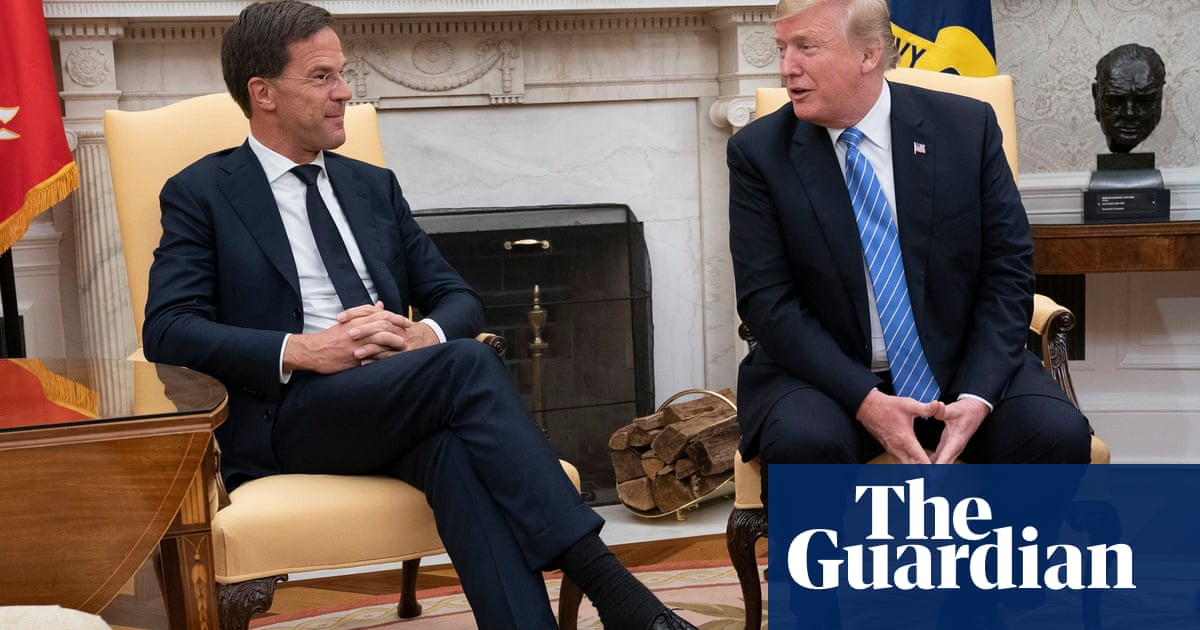 'No': Dutch prime minister awkwardly interrupts President Trump – video