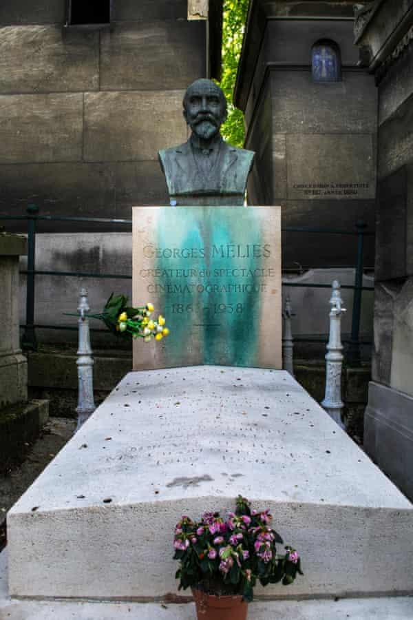 Master of illusion ... the grave of George Méliès in the Père Lachaise cemetery, Paris.