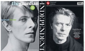 The front pages of the Guardian and the Independent.