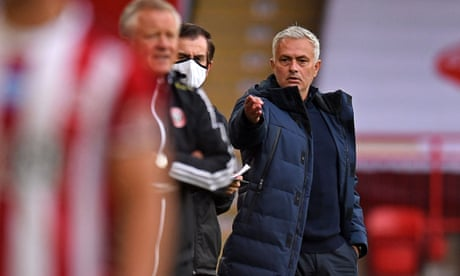 José Mourinho 'destroyed a little bit' by Spurs defeat at Sheffield United