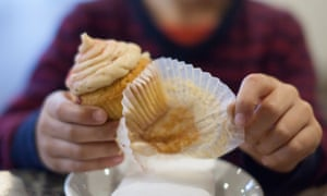Children are currently eating an average of three unhealthy high-calorie sugary snacks and drinks every day, according to Public Health England.